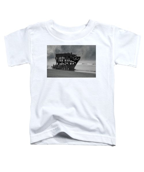 Peter Iredale Shipwreck At Oregon Coast Toddler T-Shirt