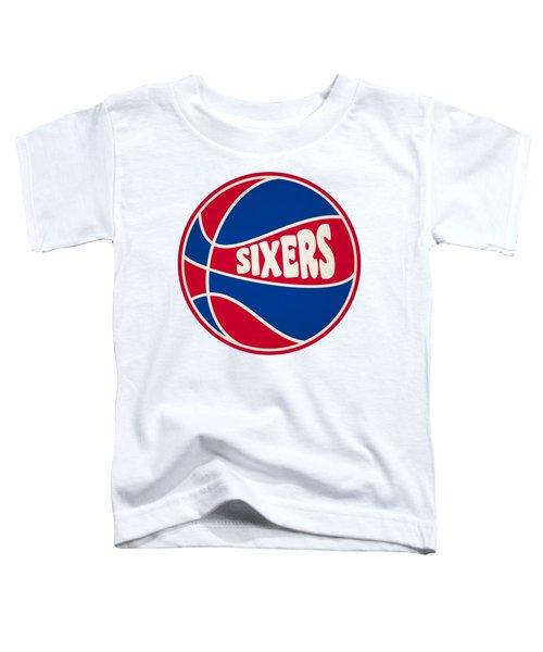 Philadelphia 76ers Retro Shirt Toddler T-Shirt by Joe Hamilton