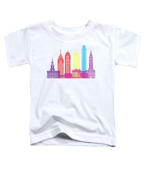 Philadelphia Skyline Pop Toddler T-Shirt by Pablo Romero