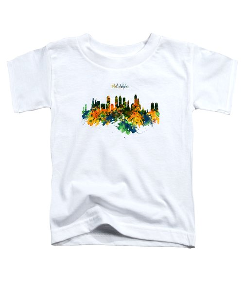 Philadelphia Watercolor Skyline Toddler T-Shirt