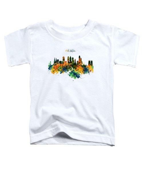 Philadelphia Watercolor Skyline Toddler T-Shirt