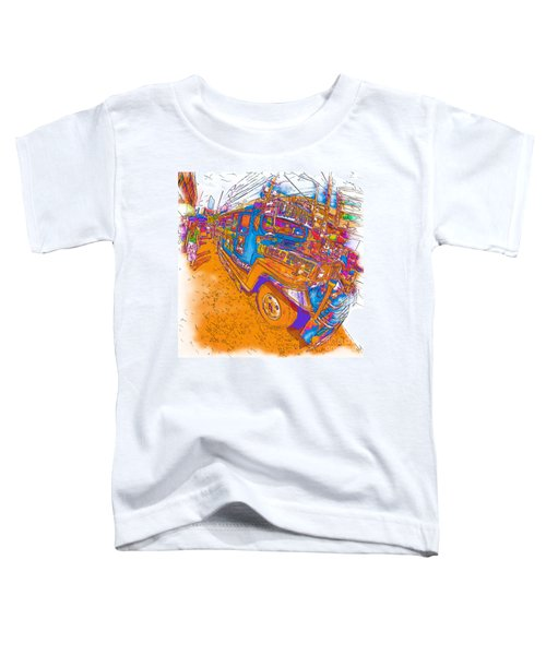 Philippine Girl Walking By A Jeepney Toddler T-Shirt