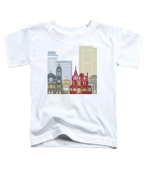 Phoenix Skyline Poster Toddler T-Shirt by Pablo Romero
