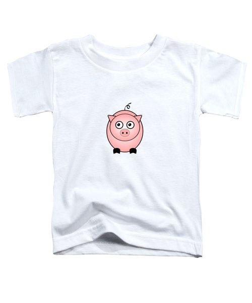 Piggy - Animals - Art For Kids Toddler T-Shirt