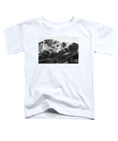 Pikes Peak Black And White In Wintertime Toddler T-Shirt