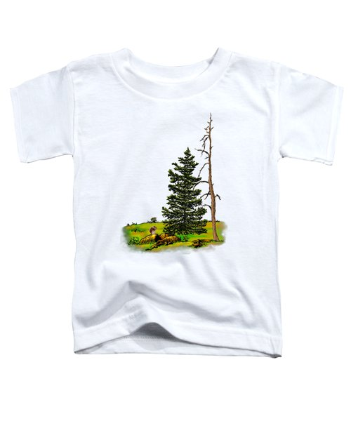 Pine Tree Nature Watercolor Ink Image 3         Toddler T-Shirt
