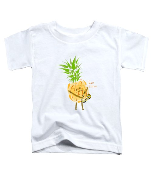 Pineapple Playing Saxophone Toddler T-Shirt