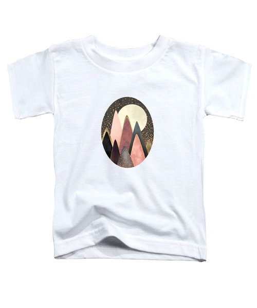 Pink And Gold Peaks Toddler T-Shirt