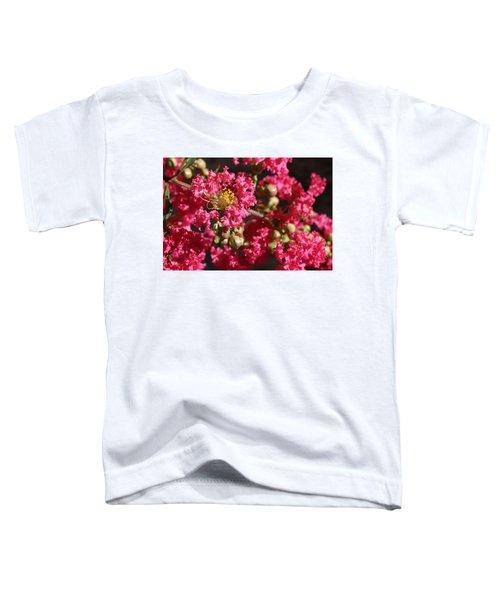 Pink Crepe Myrtle Flowers Toddler T-Shirt