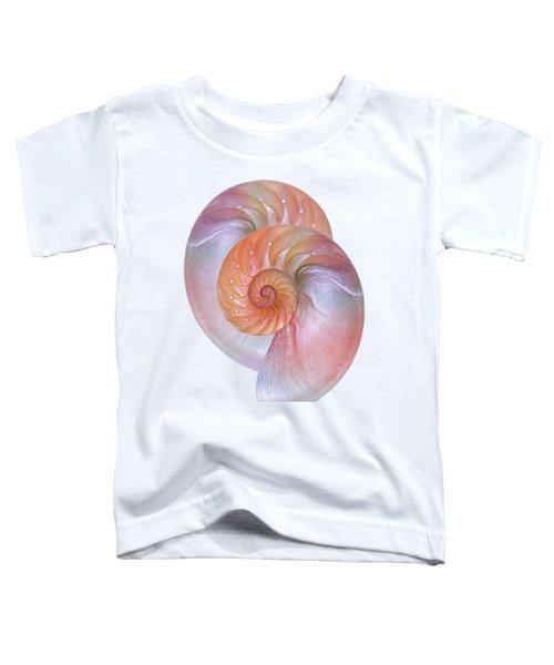 Pink Nautilus Pair On White Toddler T-Shirt