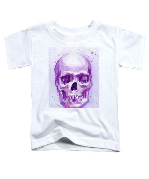 Pink Purple Skull Toddler T-Shirt