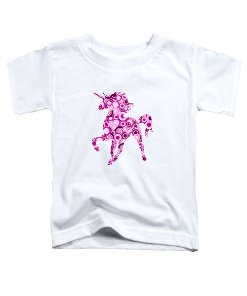 Pink Unicorn - Animal Art Toddler T-Shirt