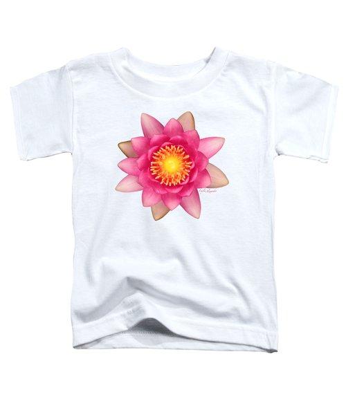 Pink Water Lily Yellow Nectar Transparent Toddler T-Shirt