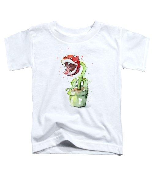 Piranha Plant Watercolor Toddler T-Shirt