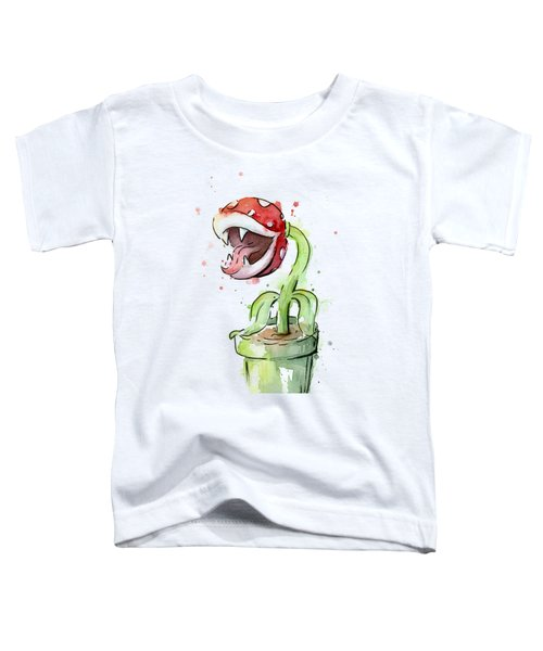 Piranha Plant Watercolor Toddler T-Shirt