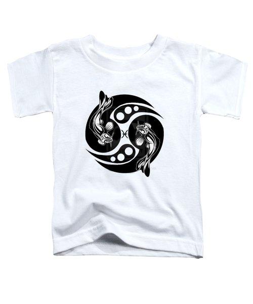 Pisces Koi Toddler T-Shirt by  Fli Art