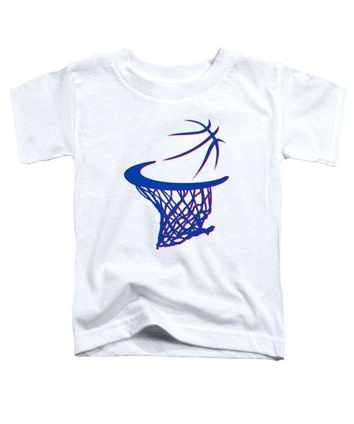 Pistons Basketball Hoop Toddler T-Shirt