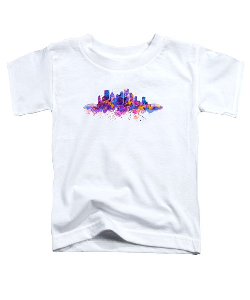 Pittsburgh Skyline Toddler T-Shirt by Marian Voicu