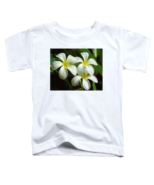 Plumeria Trio Toddler T-Shirt