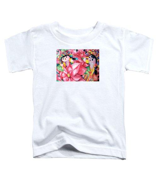 Poinsettia Christmas Toddler T-Shirt