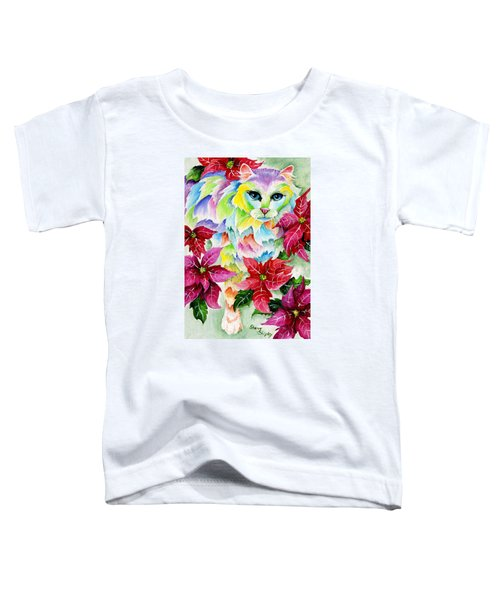 Poinsettia Sweetheart Toddler T-Shirt