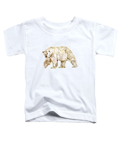 Polar Bear Watercolor Toddler T-Shirt by Marian Voicu