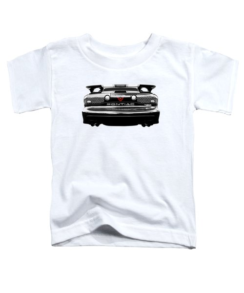 Pontiac Trans Am Rear In Black And White Toddler T-Shirt