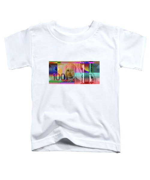 Pop-art Colorized New One Hundred Canadian Dollar Bill Toddler T-Shirt