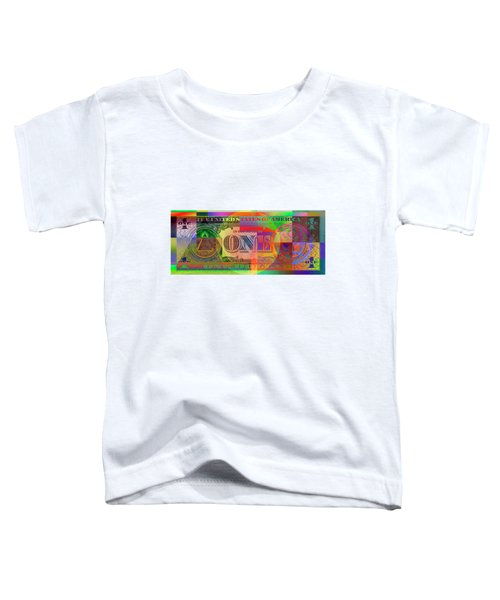 Pop-art Colorized One U. S. Dollar Bill Reverse Toddler T-Shirt