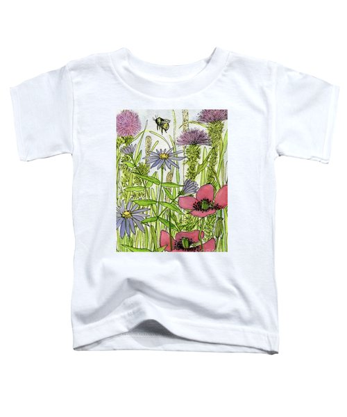 Poppies And Wildflowers Toddler T-Shirt