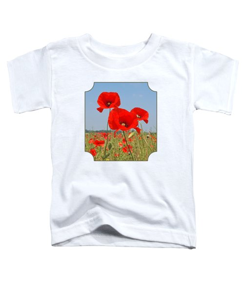 Poppy Fields 4 Toddler T-Shirt