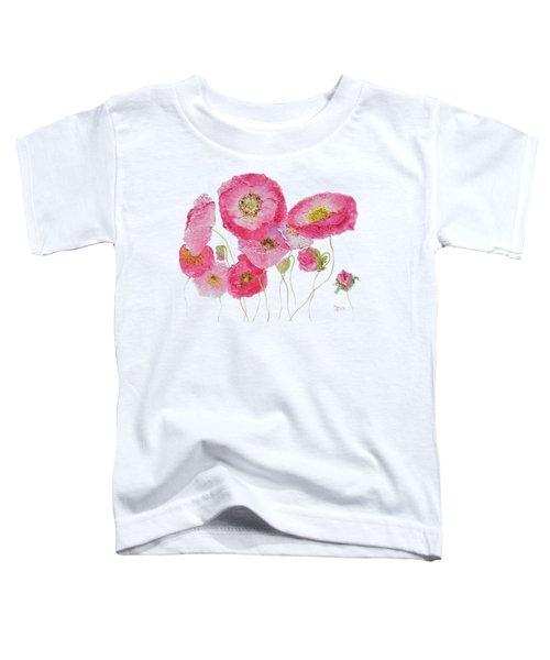 Poppy Painting On White Background Toddler T-Shirt