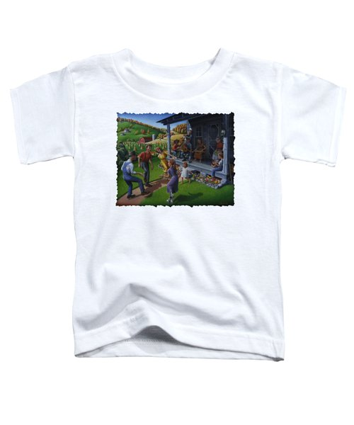 Porch Music And Flatfoot Dancing - Mountain Music - Appalachian Traditions - Appalachia Farm Toddler T-Shirt