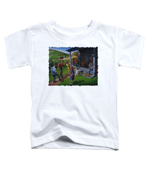 Porch Music And Flatfoot Dancing - Mountain Music - Appalachian Traditions - Appalachia Farm Toddler T-Shirt