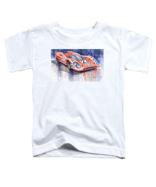 Porsche 917k Winning Le Mans 1970 Toddler T-Shirt