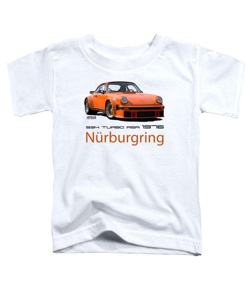 Porsche Carrera Rsr Nurburgring German Retro Sports Car Toddler T-Shirt