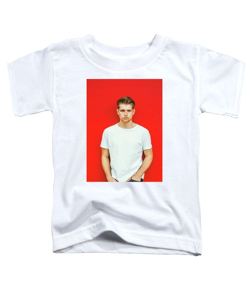 Portrait Of Young Handsome Man Toddler T-Shirt