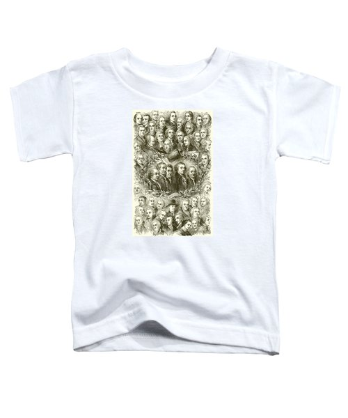 Portraits Of The Signers Of The Declaration Of Independence Toddler T-Shirt