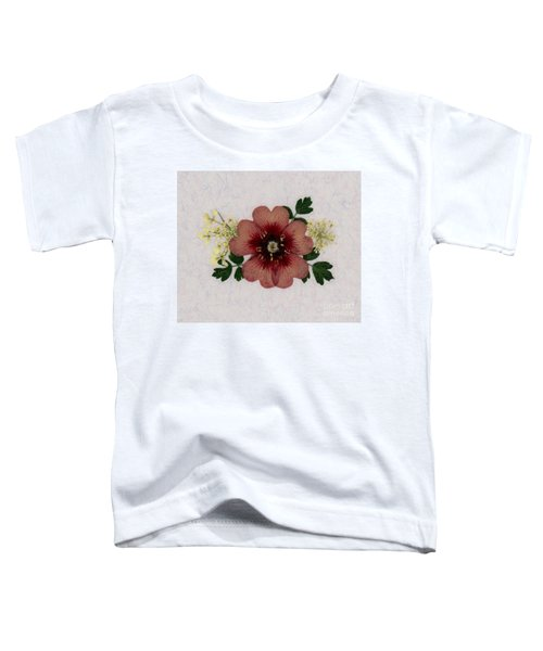 Potentilla And Queen-ann's-lace Pressed Flower Arrangement Toddler T-Shirt