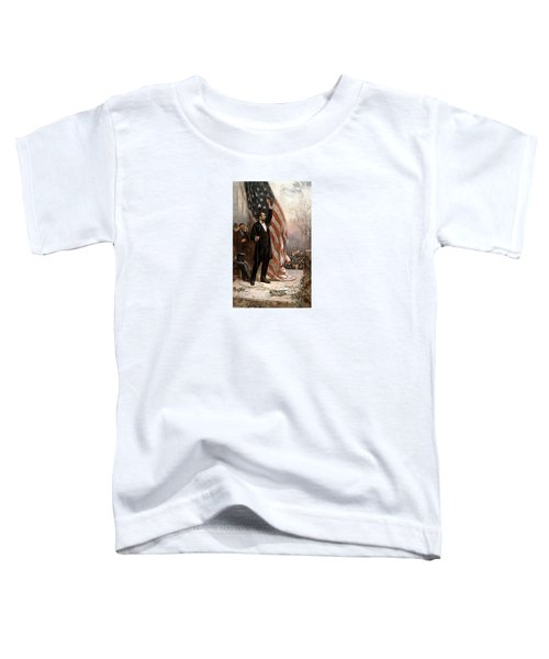 President Abraham Lincoln Giving A Speech Toddler T-Shirt by War Is Hell Store