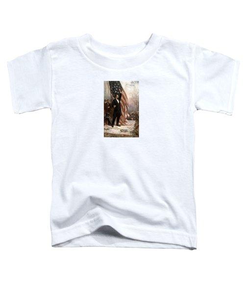 President Abraham Lincoln Giving A Speech Toddler T-Shirt