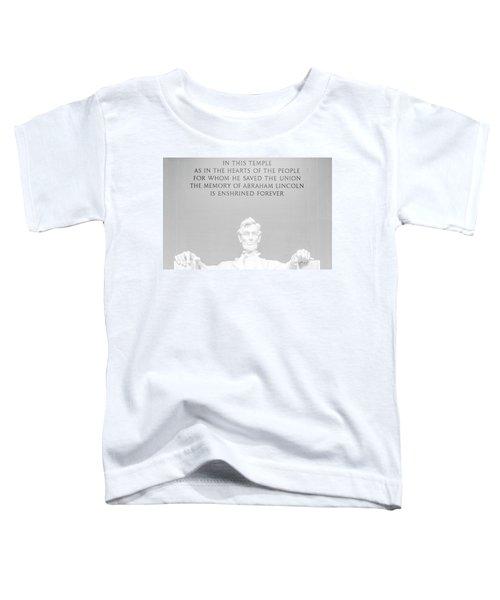 President Lincoln Toddler T-Shirt