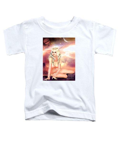Pretty In Peach Galaxies Toddler T-Shirt