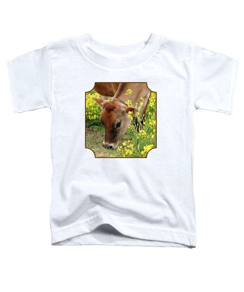 Pretty Jersey Cow Square Toddler T-Shirt