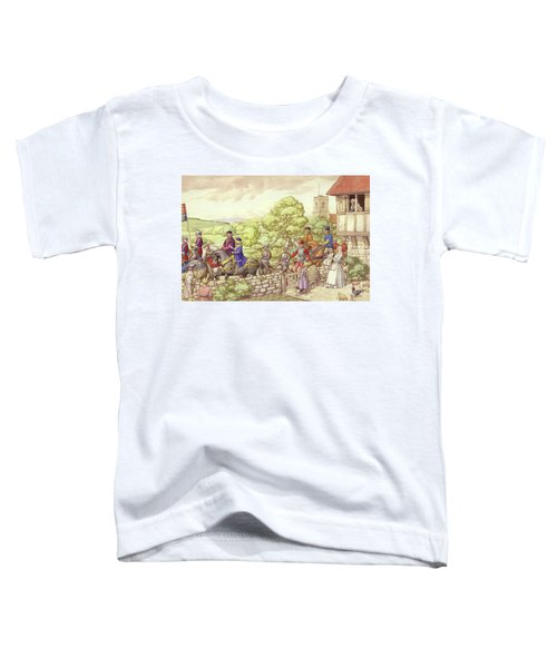 Prince Edward Riding From Ludlow To London Toddler T-Shirt by Pat Nicolle