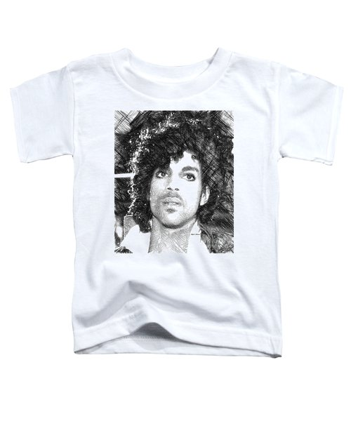 Prince - Tribute Sketch In Black And White 3 Toddler T-Shirt