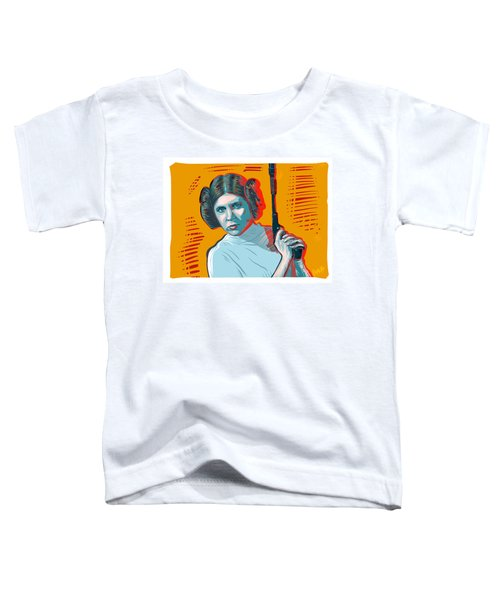 Toddler T-Shirt featuring the digital art Princess Leia by Antonio Romero