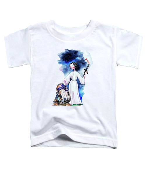 Princess Leia Illustration Toddler T-Shirt by Isabel Salvador