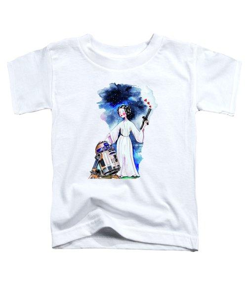 Princess Leia Illustration Toddler T-Shirt