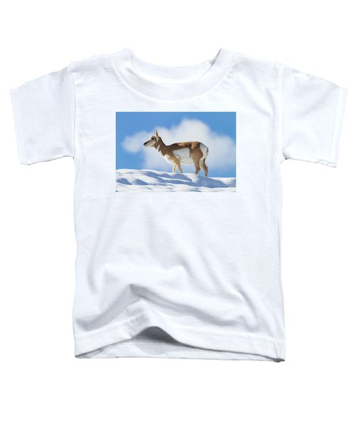 Pronghorn Doe On Snowy Ridge Toddler T-Shirt